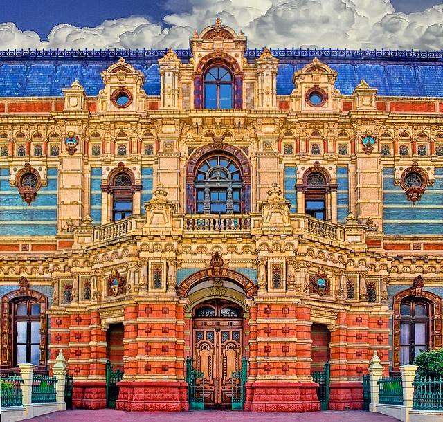 Hermosa arquitectura del palacio de Aguas Corrientes, Buenos Aires, Argentina.