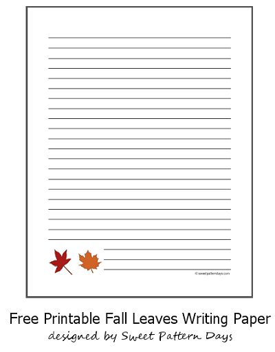 fall writing paper with lines Goal: to write a report to the school analyzing the school's existing paper use   how many trees are used or saved to make different types of paper) [basically,.