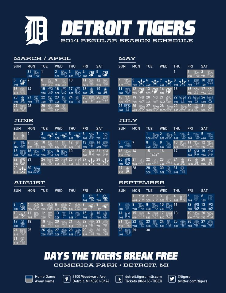 It's just an image of Gutsy Printable Detroit Tigers Schedule