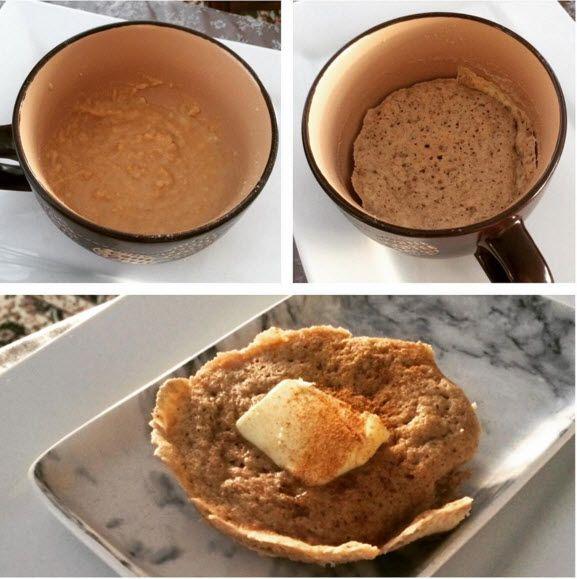 Easy One Minute Cinnamon Muffin, Keto