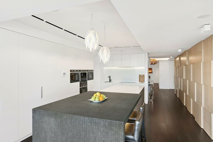 North Sydney Penthouse Kitchen designed by Jodie Carter Design. Photo by Savills Real Estate, Double Bay
