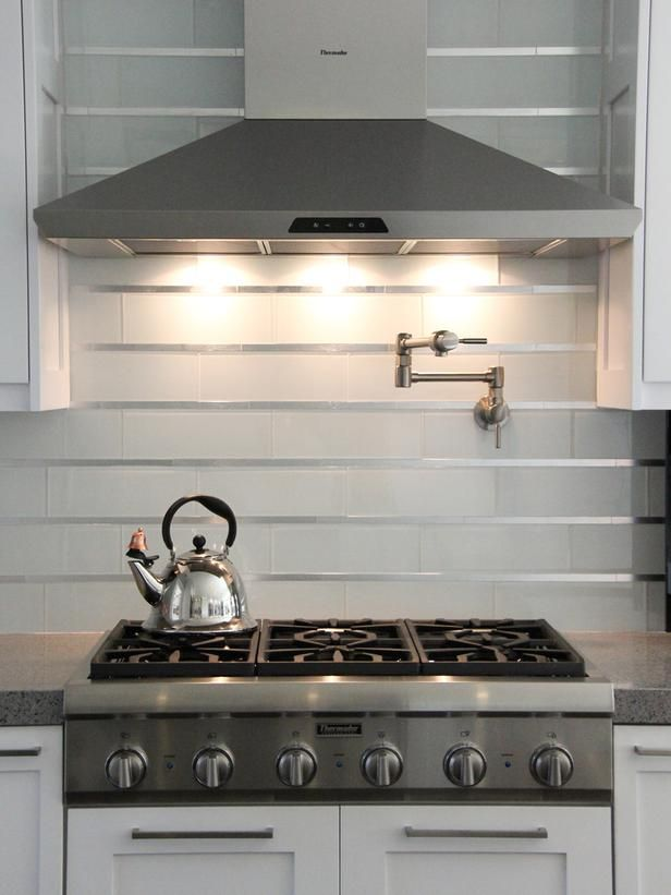 Just a Touch This contemporary backsplash blends
