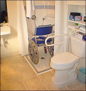 2-Wall Wheelchair Accessible Shower - Accessible Design