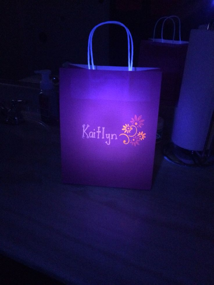 Glow in the dark goodie bags | Glow party | Pinterest ...
