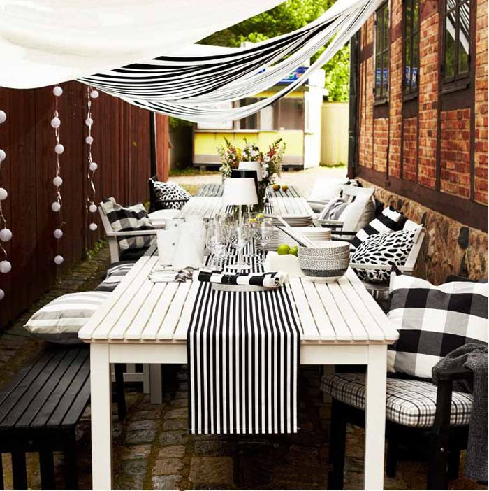 ikea-outdoor-spring-2013 *Love the ideas, would change the color theme to cobalt blue and white!