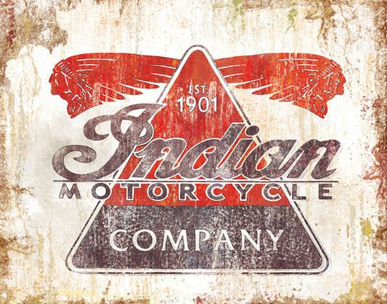 Indian Motorcycle Company Est 1901 | Mad Men Art | Vintage Ad Art Collection