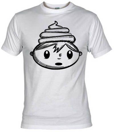Camiseta Las locas locas aventuras del niño de la mierda en la cabeza - Lápiz - Las locas, locas aventuras, del niño de la mierda en la cabeza. Versión dibujada a mano con lapiz.