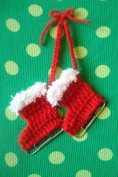 haken voor kinderen tutorials more haken crochet christmas socks knits ...