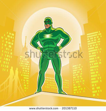 Superhero. Vector illustration on a background - stock vector