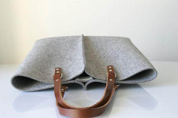 100% design lana feltro borsa elegante e Casual lana di Lefrac                                                                                                                                                                                 More
