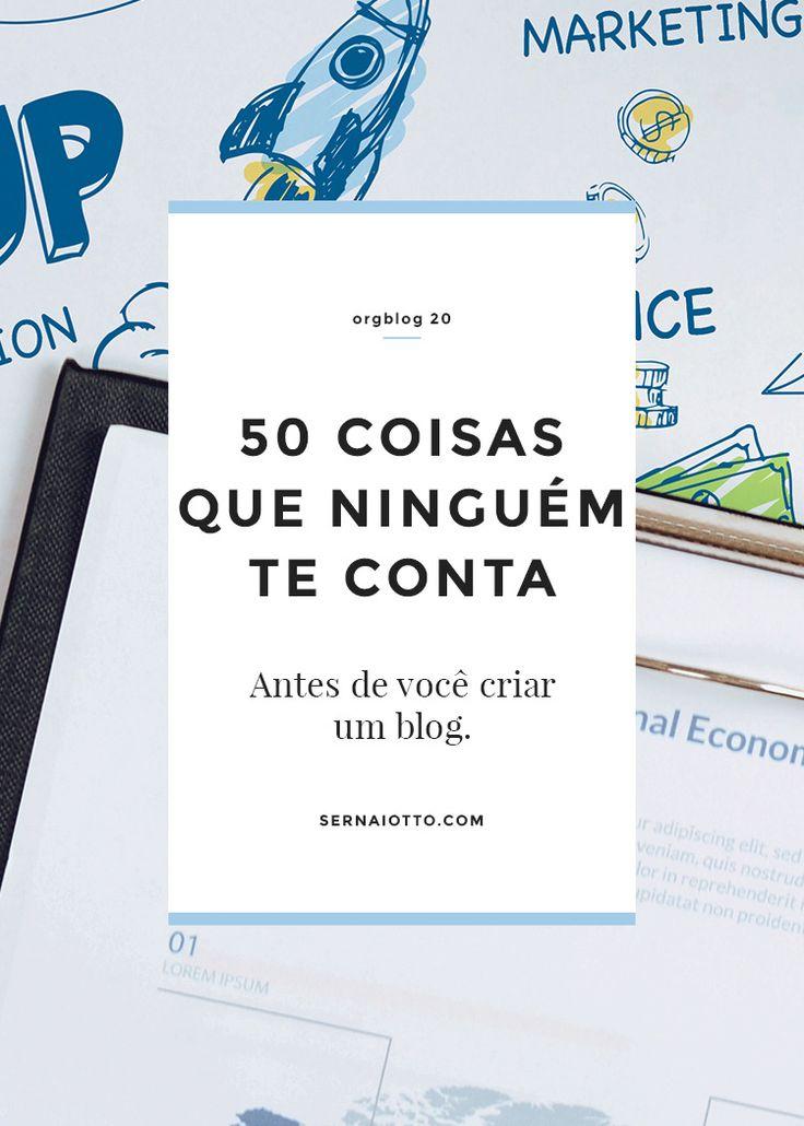 ORGblog 20: as 50 coisas que ninguém te conta antes de criar um blog http://sernaiotto.com/2014/05/26/orgblog-20-antes-de-criar-um-blog/