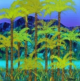 Tree Fern and Creek Bed Study, 2013-2014, by Peter Coad