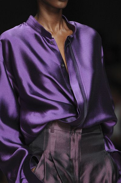 @Kathleen S S DeCosmo ♡ ♡ ♡ Heider Ackerman - Like this purple blouse                                                                                                                                                                                 More