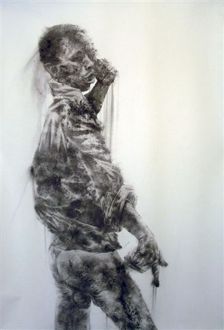 DIANE VICTOR. Diane Victor, Dancer, 2008. Charcoal dust drawing, 1500 x 980 .