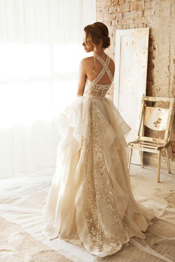 Wedding Separates White Lace Skirt Fl Full Embroidered Rustic Dresseswedding