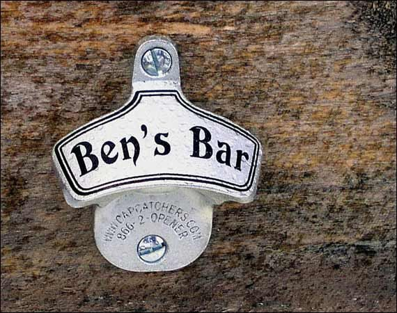 Personalized Bottle Opener - Traditional Wall Mount - hmmmm xmas bday anniversary just because :)