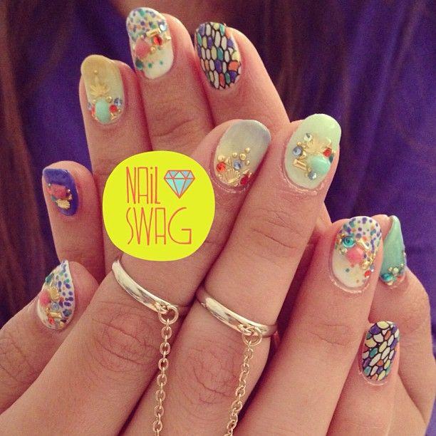 THE HYBRID NAIL for Miranda! #nailswag #nails #nailart #nailartclub #nailtour #swag #sf  (at Sparkle San Francisco)
