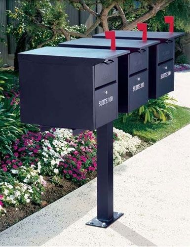 salsbury industries dual door locking mailchest mailbox - Locking Mailboxes