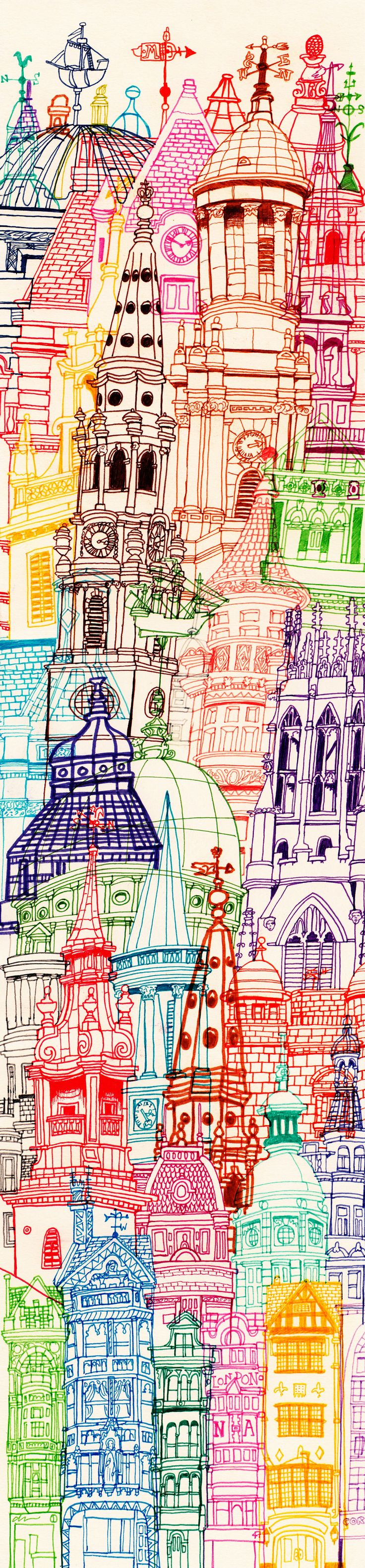 Chetan; London Towers, 2013. Perfect print which can be used for T.SHIRTS....