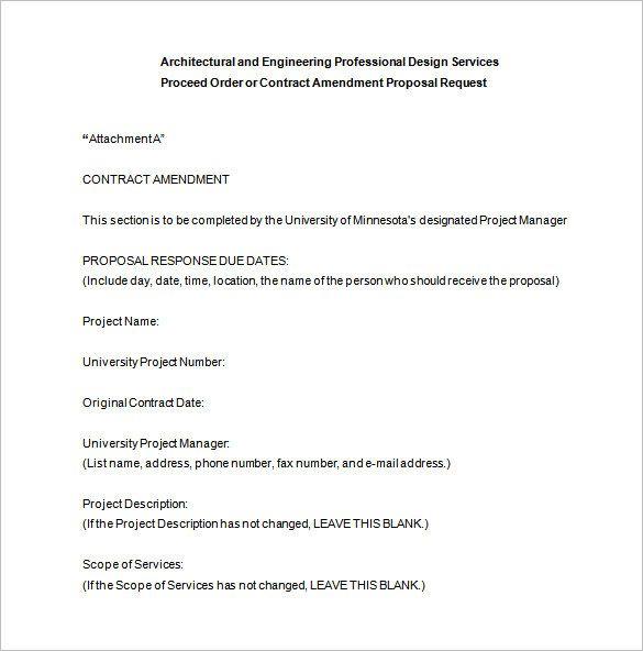 Architectural Design Proposal Template Sample Design Proposal