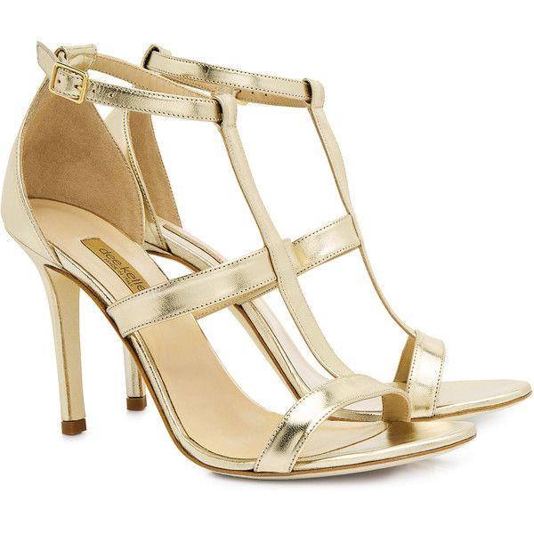 Dee keller - Marlee t-strap heels ($275) ❤ liked on Polyvore featuring shoes, pumps, heels, metallic heel pumps, stilettos shoes, metallic shoes, stiletto heel pumps and dee keller shoes