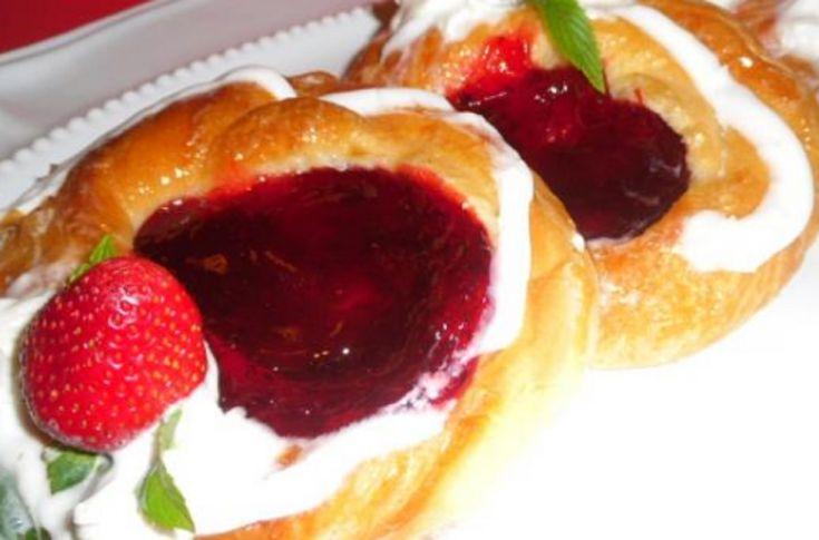 Recettte : Danoises aux fraises.