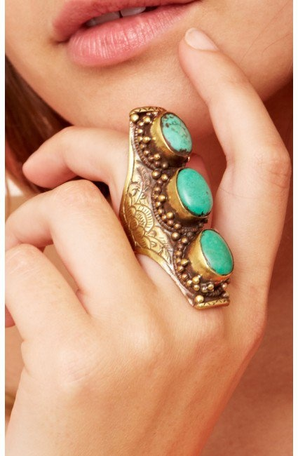 Natalie B Jewelry Adjustable Saddle Ring