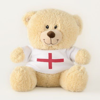 Patriotic Teddy Bear flag of England - stylish gifts unique cool diy customize