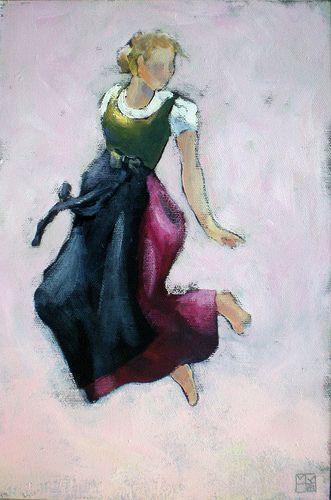 dirndl, tanzend
