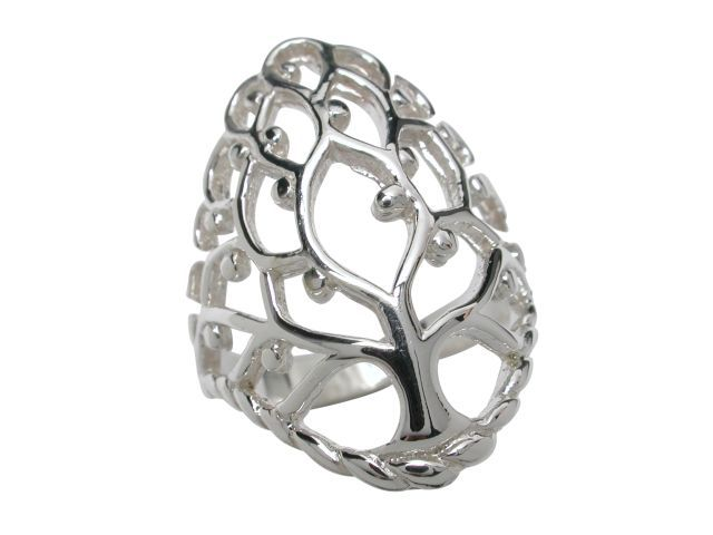 Sterling Silver 26mm Tree Of Life Ring