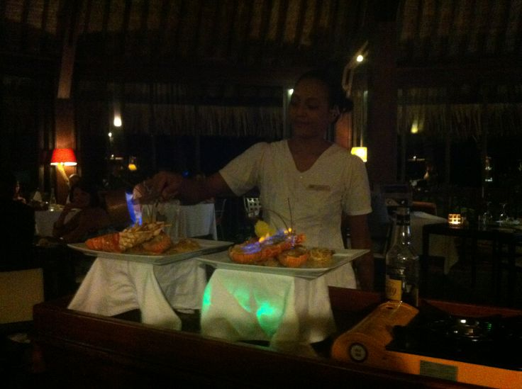 Magnificent Flambeu0027d Lobster At The Sofitel Bora Bora Private Island  Resort. Wonderful Treat