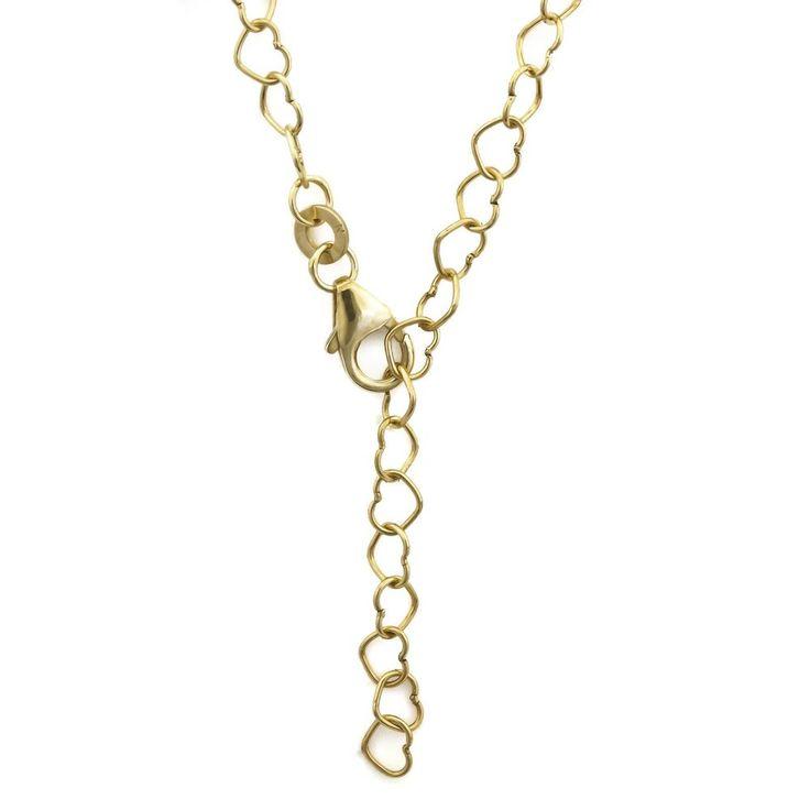 Fußkettchen 333 Gold Fußkette Ankerkette Herzkette Länge 25cm NEU (8517255)