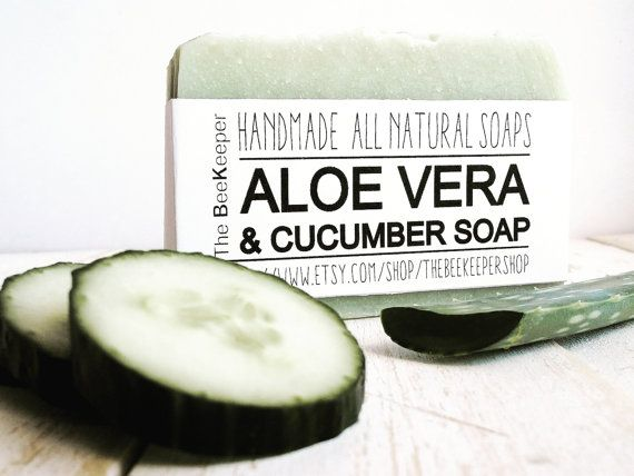 Aloe Vera and Cucumber Soap. A soothing and refreshing treat for your skin!!!