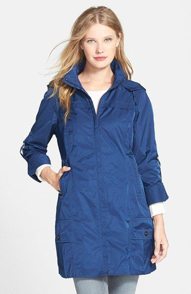 RAINFOREST Packable Roll Sleeve Anorak | Nordstrom