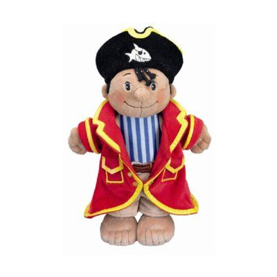 This adorable Capt'n Sharky plush toy is perfect for your little pirate. Made from the softest plush materials. Comes with his very own pirate hat and removable coat. Packaged in attractive gift box. From quality German toy company Spiegelburg. Measures approx. 25cm tall.