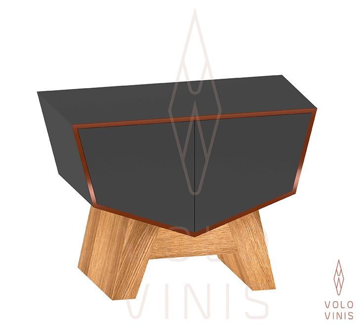 Side table - Hator rack system Wine Cellar (trafic grey version) by VOLO VINIS. Contemporary Luxuryous Wine Design, high quality wine furniture available on www.volovinis.com