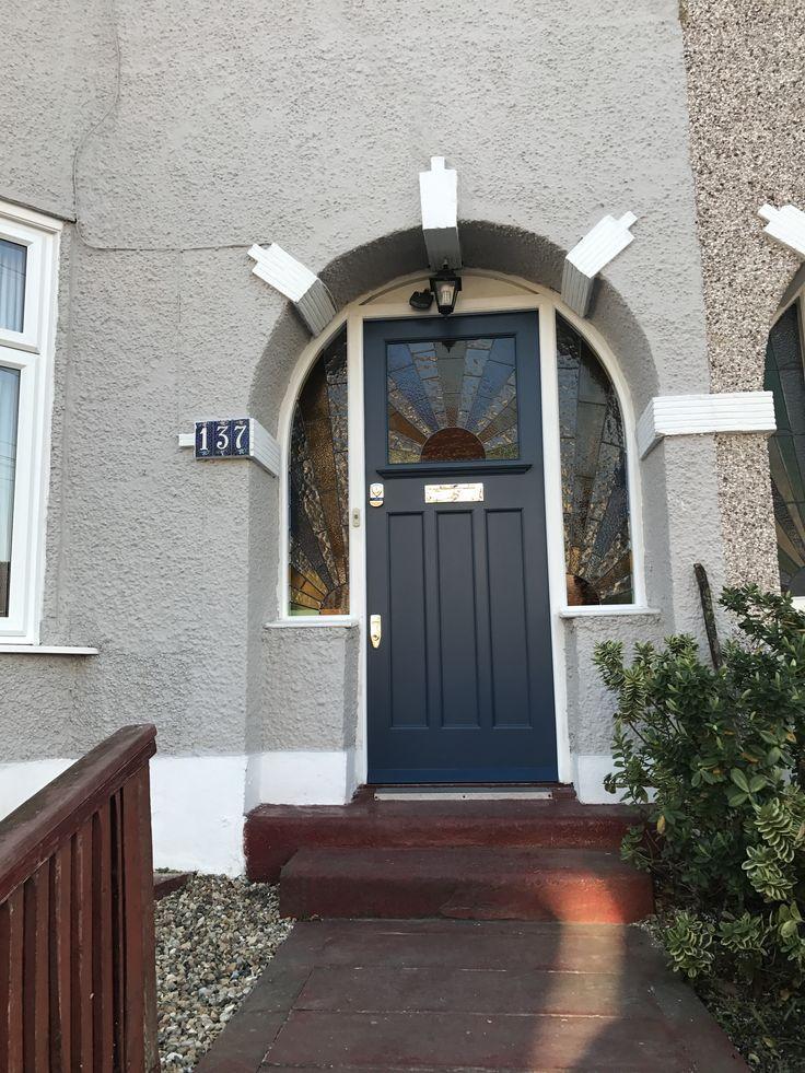 Stiffkey blue period front door in south London