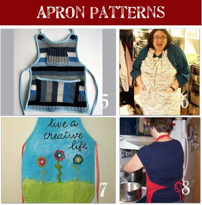 24 Free Apron Patterns {Pictured Instructions} - Tip Junkie