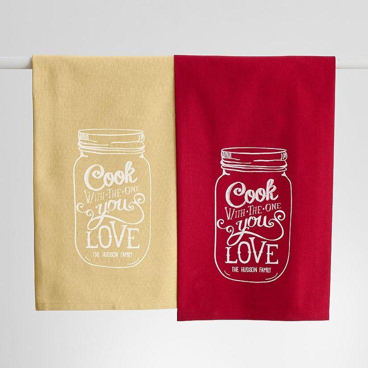 Personalized Mason Jar Kitchen Towel From The Krano Bergs Pinterest