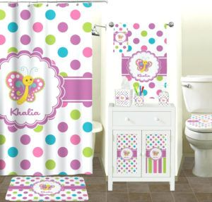 Dots Butterfly Shower Curtain Hooks