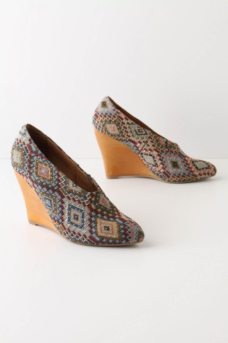 Diamond Brocade Wedges: On sale $79.95 #Shoes #Wedges #Brocade_Wedges