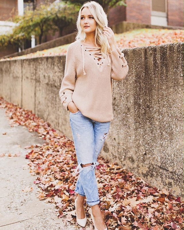 Lace-up Mood Sweater - Sweaters - Tops - Retro, Indie and Unique Fashion