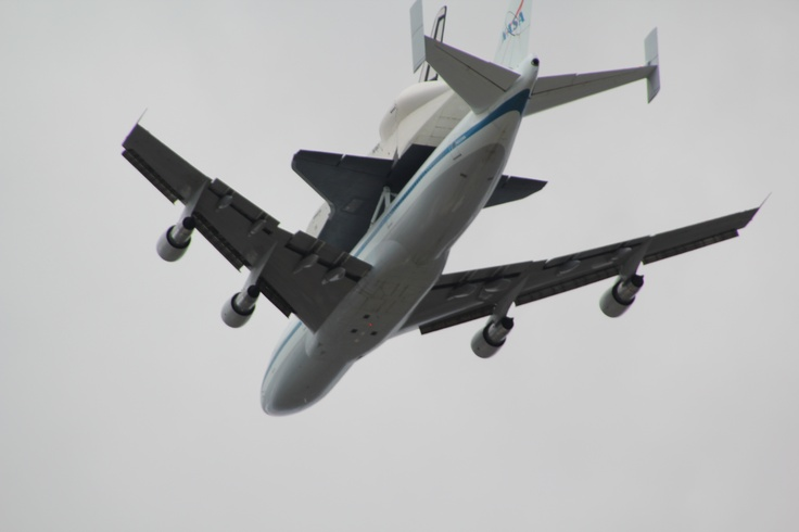 The Shuttle coming in to New Jersey!!