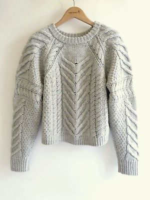 ISABEL-MARANT-Super-Rare-Vichy-Cable-Knit-Wool-Sweater