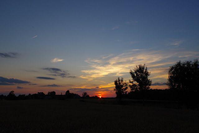 fotos&travels : Zachód słońca nad kielecką wsią