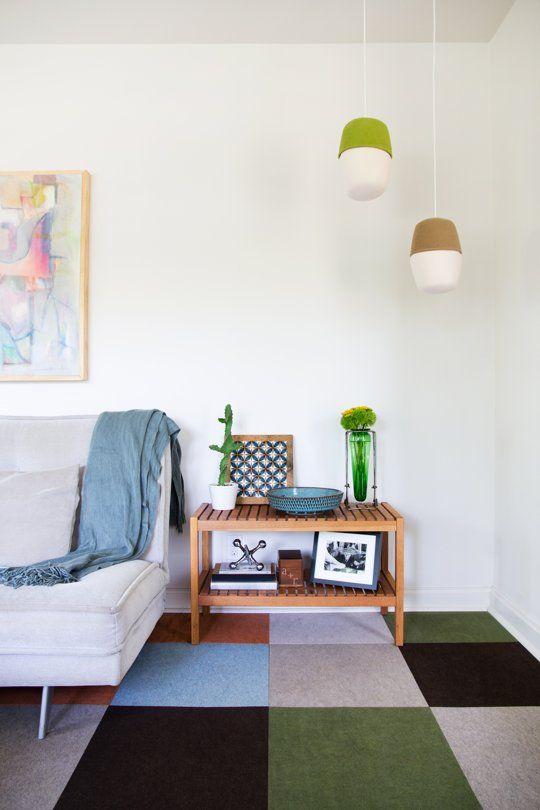 Allison Burke's Modern Mix: House Tours, Apartment Therapy, Living Room, Carpet Tile