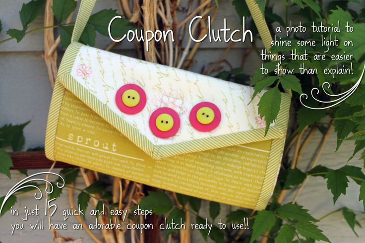 Coupon Clutch Tutorial - opens up accordion style!