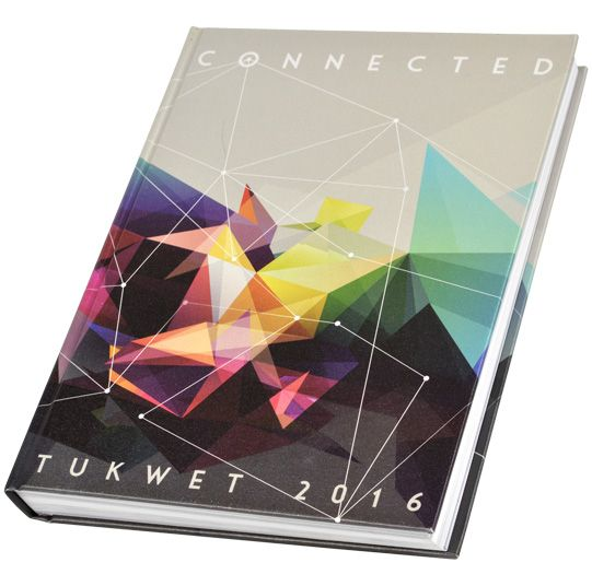 "2016 Tukwet Rancho Cucamonga High School Rancho Cucamonga, California  Theme: ""Connected"" Adviser: Takako Mino Editor: Alexis Jimenez Walsworth representative: Monica Loera Four-color cover printed on Luminaire White linen"