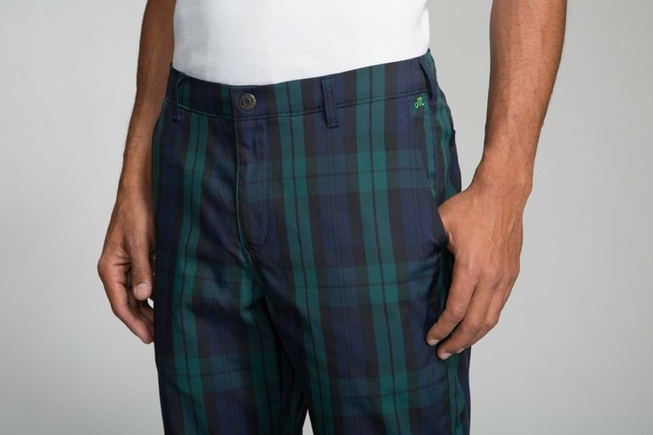 green plaid pants mens - Pi Pants