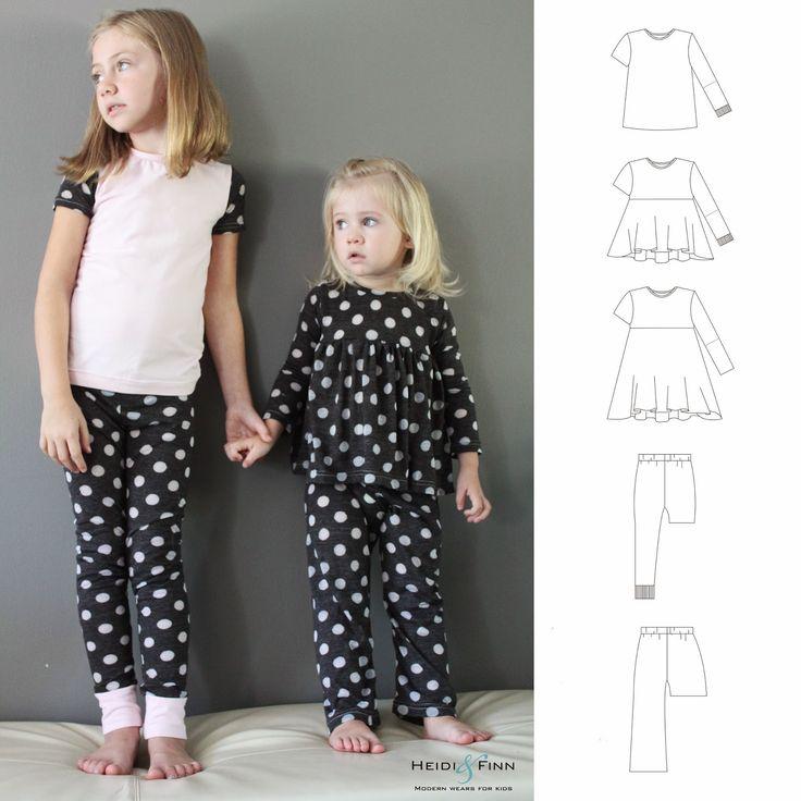 Heidi & Finn - All you need jammies - oneindig veel pyjamamogelijkheden met dit patroontje!